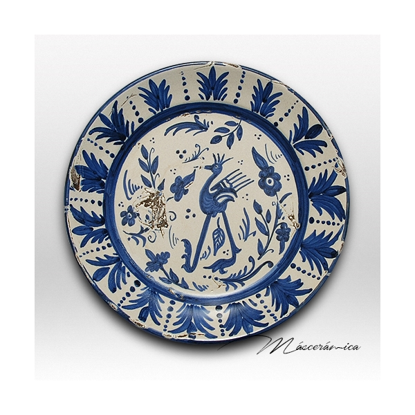 Plato de cer mica con decoraci n antigua cer mica - Platos de ceramica ...