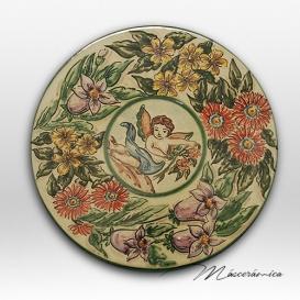 Plato de Cerámica Floral