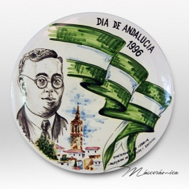 """Plato de cerámica """"Dia de Andalucía"""""""