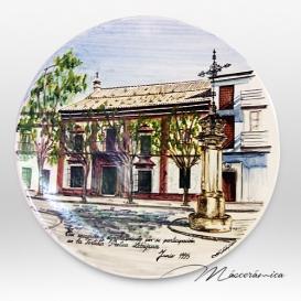 """Plato de cerámica """"Casa cultura"""""""