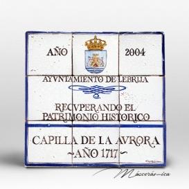 "Rótulo Cerámico ""Capilla de la Aurora """