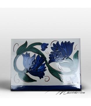 "Azulejo Artesanal ""Flor Antigua"""