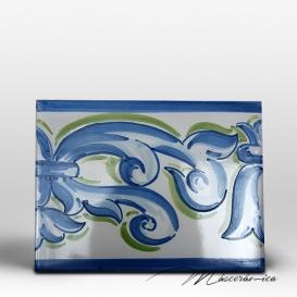 "Azulejo Artesanal ""Velazquez"" Azul"