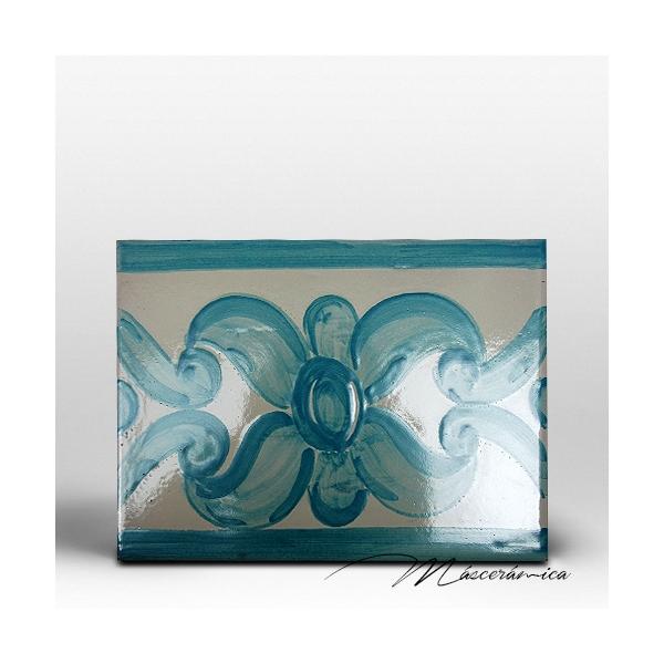 azulejo artesanal mallorca verde agua cer mica