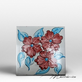 """Azulejo Artesanal """"Fleurs"""""""