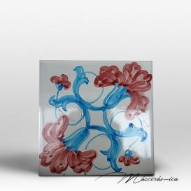 """Azulejo Artesanal """"Fleurs 2"""""""