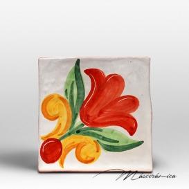 Azulejo Rústico Amalia Rojo
