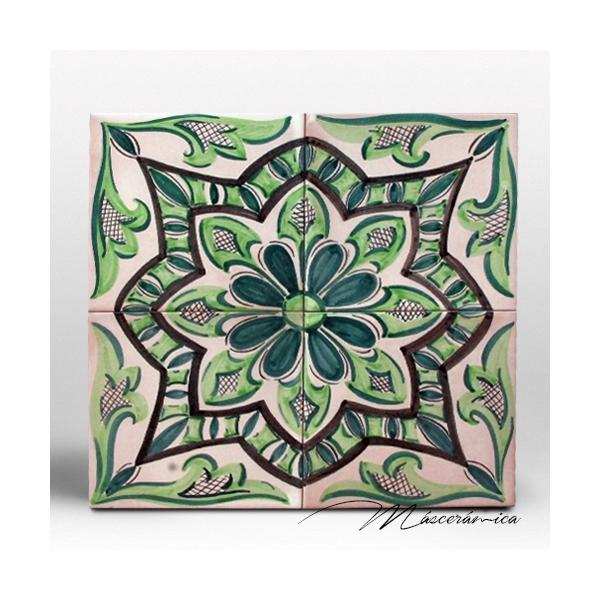 Z calo de cer mica artesanal digital verde cer mica for Zocalos de ceramica