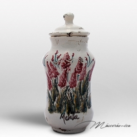 Albarelo Pequeño de Cerámica Floral Silene