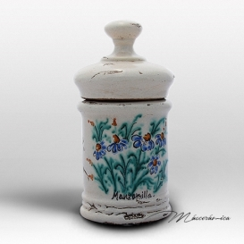 Tarro de Farmacia de Cerámica Floral Tania