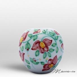 Florero Redondo de Cerámica Floral