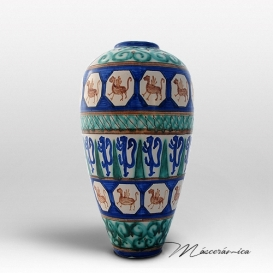 Florero Largo de cerámica Gótico Teseo