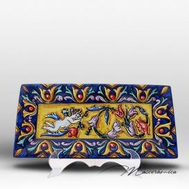 Bandeja Larga de Cerámica de Renacimiento Creta