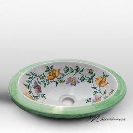 Lavabo de Cerámica Floral