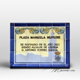 """Rótulo Cerámico """"Plaza Manuela"""""""