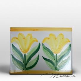 "Azulejo Artesanal ""Tulipán"""
