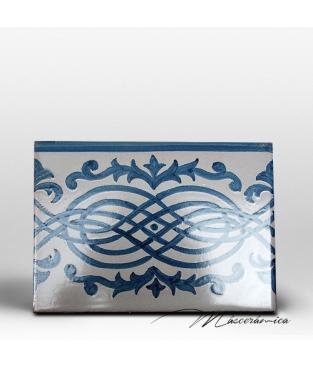 """Azulejo Artesanal """"Eslabón"""" Azul"""