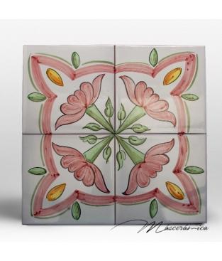 """Zócalo de Cerámica Artesanal """"Magnolia"""""""