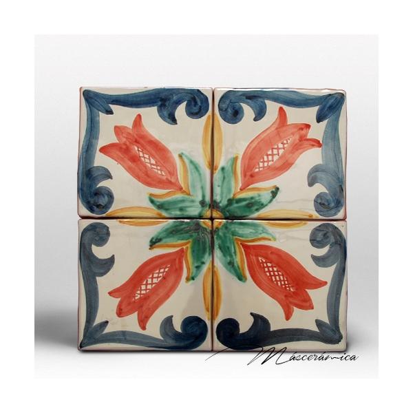 Z calo de cer mica artesanal estrella cer mica for Zocalos de ceramica