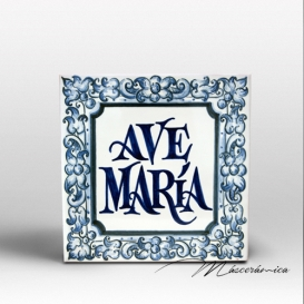 """Placa de Cerámica """"Ave María"""""""