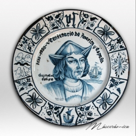 "Plato de cerámica ""Cristobal Colón"""