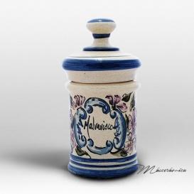 Tarro de Farmacia de Ceramica Floral Morana