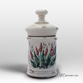 Tarro de Farmacia de Cerámica Floral Grelia