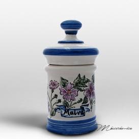 Tarro de Farmacia de Cerámica Floral Petonia