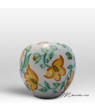 Florero Redondo de Cerámica Floral Ariel
