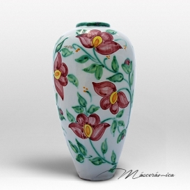 Florero Largo de cerámica Floral Rosa