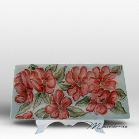 Bandeja Larga de Cerámica Floral Alba