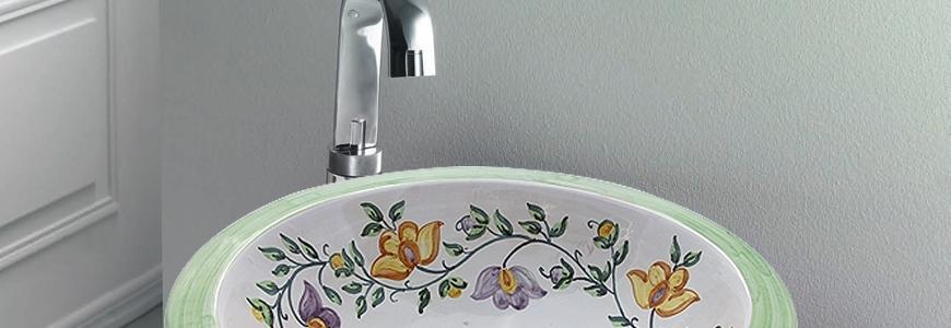 Lavabos de cer mica redondo art stico artesanal cer mica for Productos para ceramica